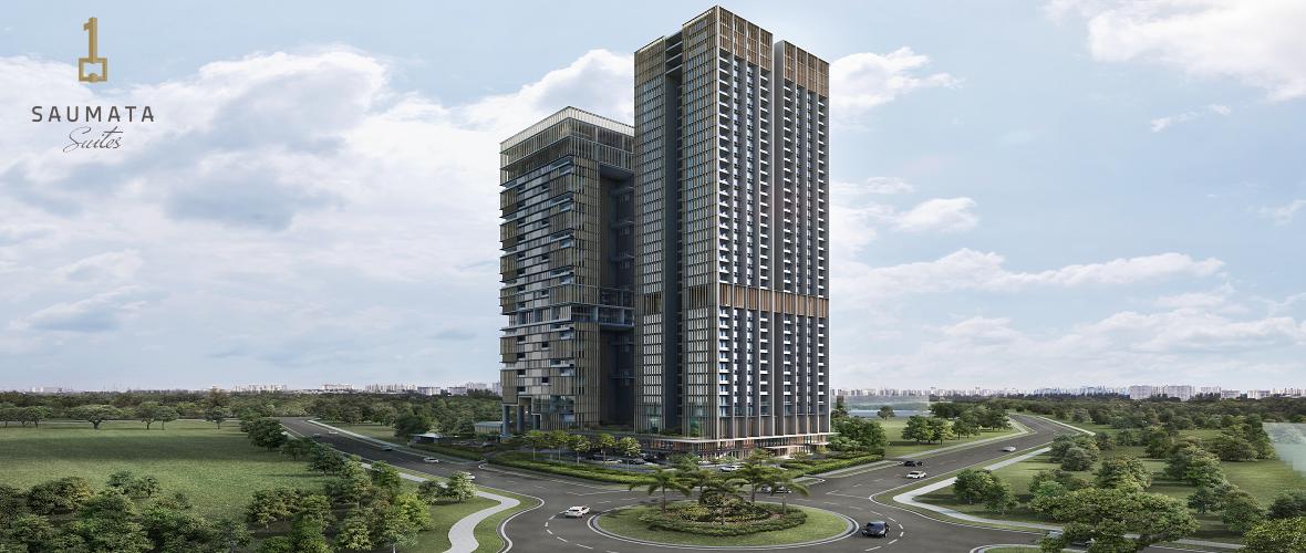 gambar exterior gedung apartemen saumata dan saumata suites apartment Alam Sutera Serpong seteleh sukses mengekor Yukata Suites dan one velvet