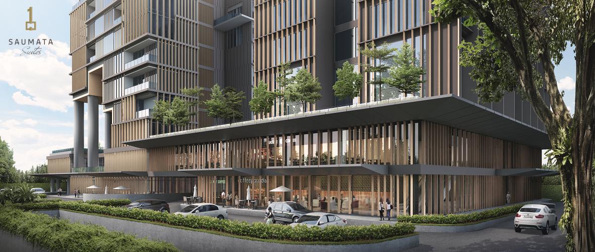 commercial area saumata apartment dan saumata suites apartment konsep lebih baik dari Yukata Suites dan One Velvet